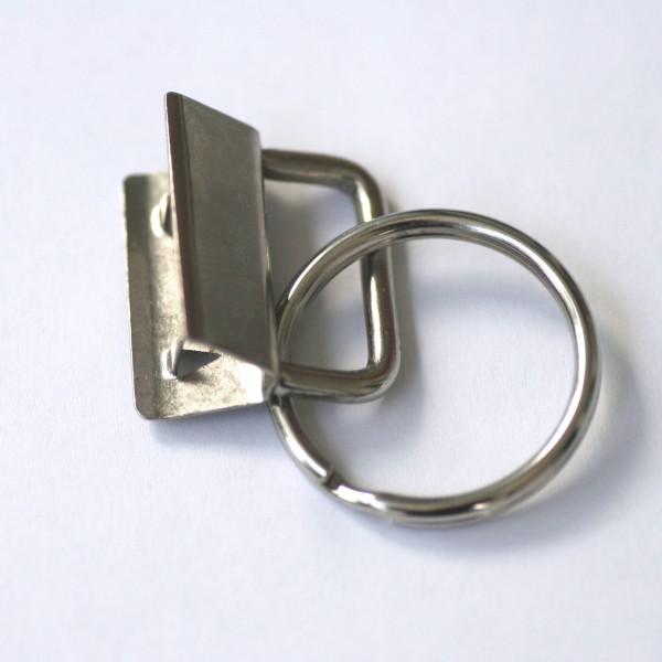 Schlüsselbandrohling für 2,5cm Gurtband, silbern